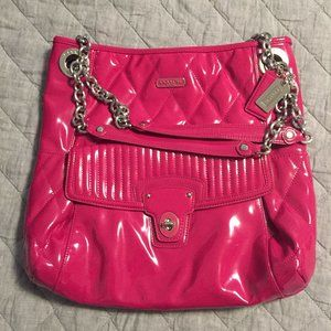 Pink Patent Leather Coach Tote